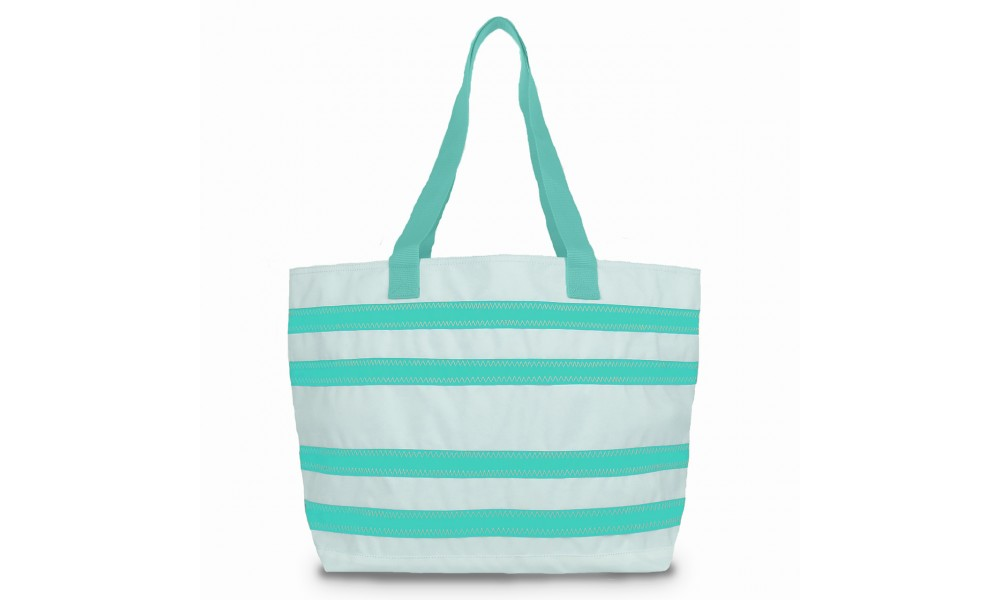 BoatUS offer Cabana Stripe Tote - Large - PERSONALIZE FREE!