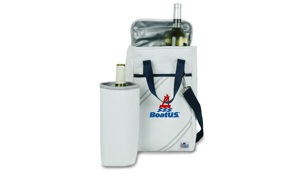 BoatUS Newport Insulated Wine Tote (2-Bottle) - Personalize for FREE!