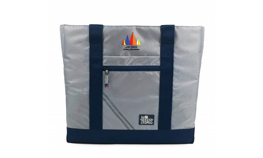 LMSA offer Silver Spinnaker All-Day Tote - PERSONALIZE FREE!