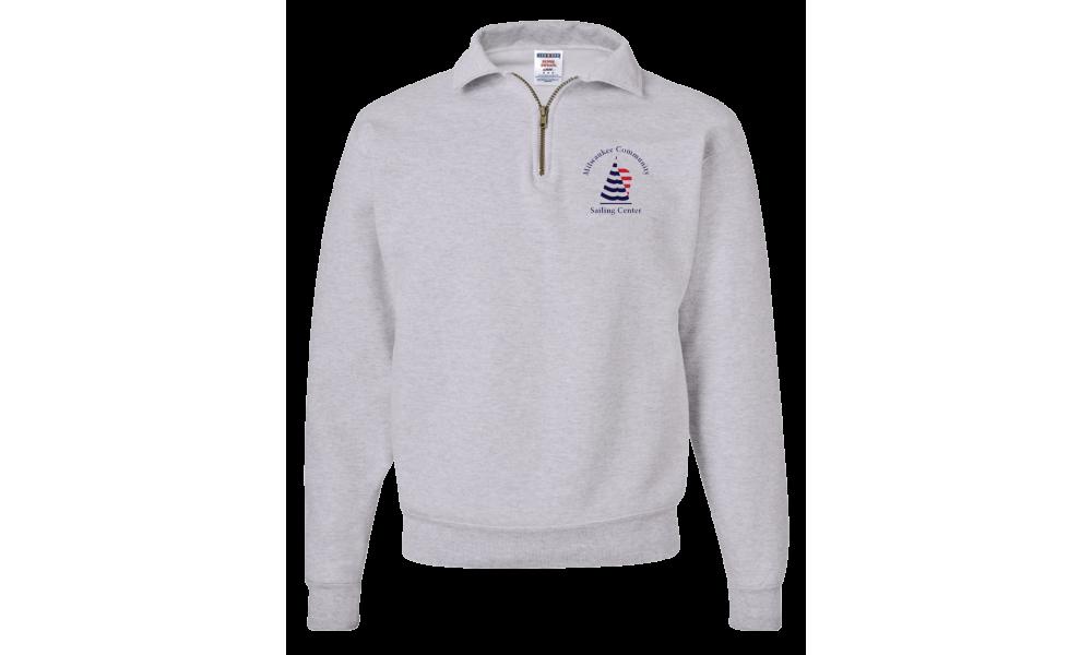 MCSC - SUPER SWEATS Quarter-Zip Cadet Collar Sweatshirt
