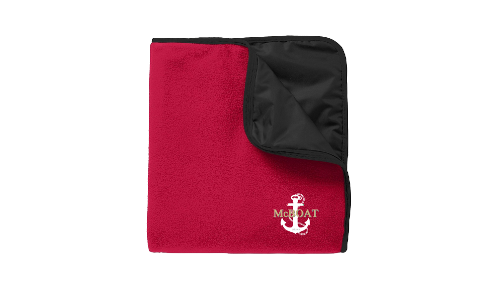 McBoat - Fleece & Poly Travel Blanket