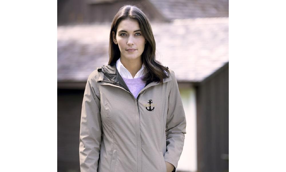 McBoat -  Ladies  Weatherproof Melange Rain Jacket