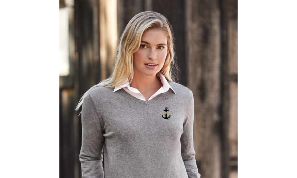 McBoat -   Ladies Weatherproof Vintage Cotton Cashmere Crewneck Sweater