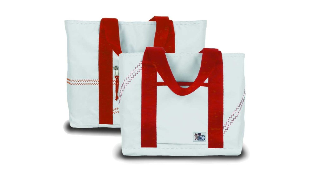 Medium Tote and matching Mini Tote in red