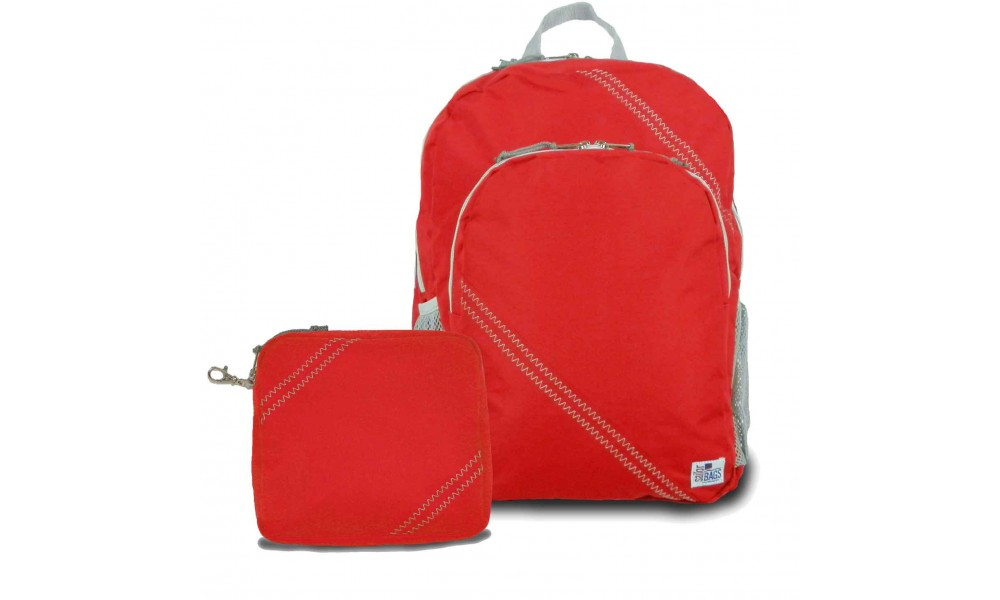 Chesapeake Backpack with the matching Accessory Pouch red