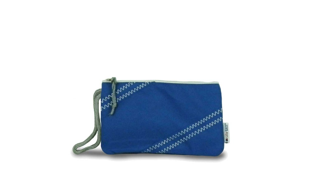 nautical blue chesapeake wristlet product image