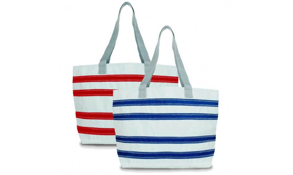 BoatUS offer  Nautical Stripe Large Tote - PERSONALIZE FREE!