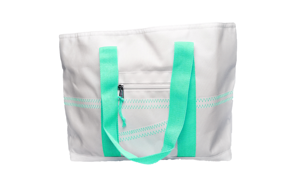 Cabana Tote - Medium in Aqua