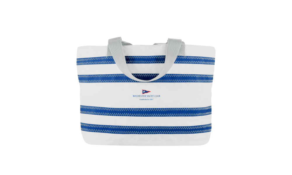 RYC offer Nautical Stripe Medium Tote- PERSONALIZE FREE!