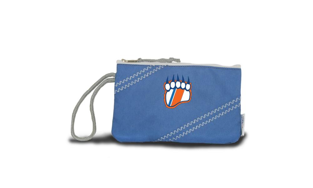 nautical blue chesapeake wristlet product image