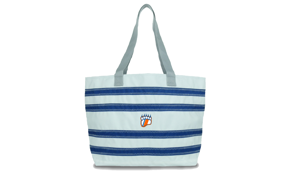 USCGA  offer  Nautical Stripe Large Tote - PERSONALIZE FREE!