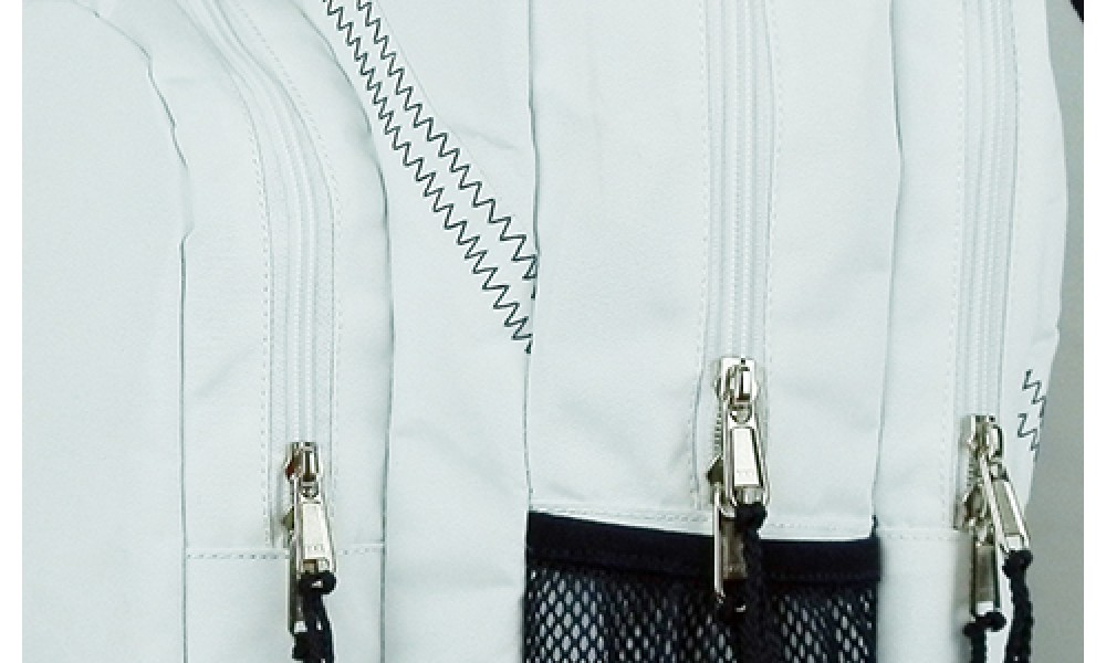 The Chesapeake Backpack features double zippers.