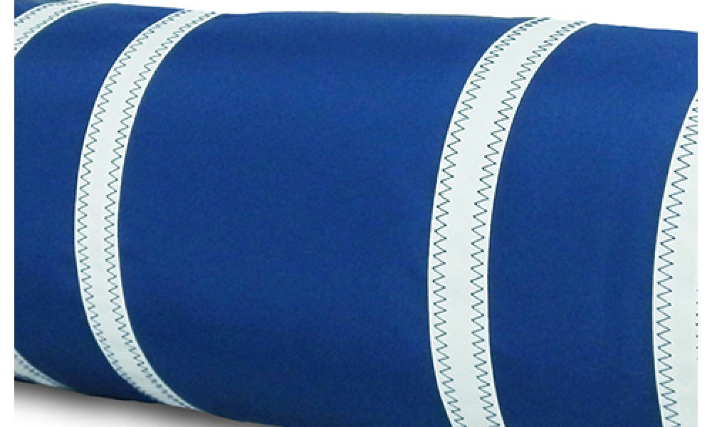 Nautical Stripe Bolster Cover blue close up