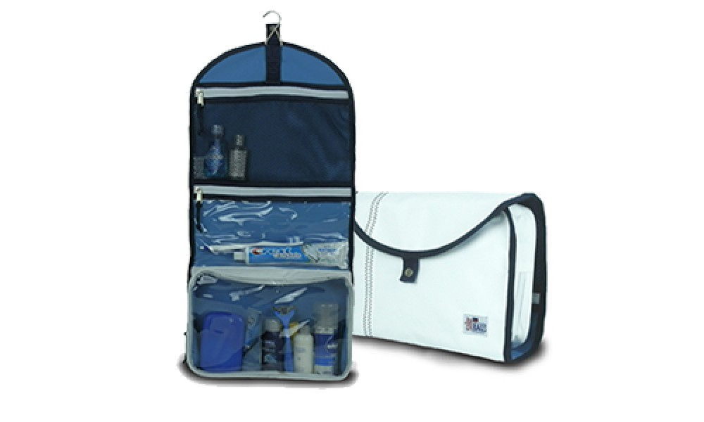 Newport Hanging Toiletry Kit open view