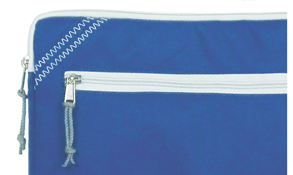zipper close up rugged sailcloth