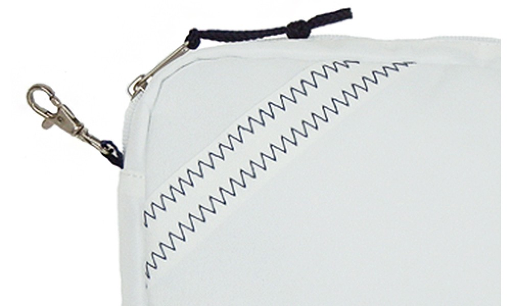 The Chesapeake Accessory Pouch is made from genuine sailcloth.