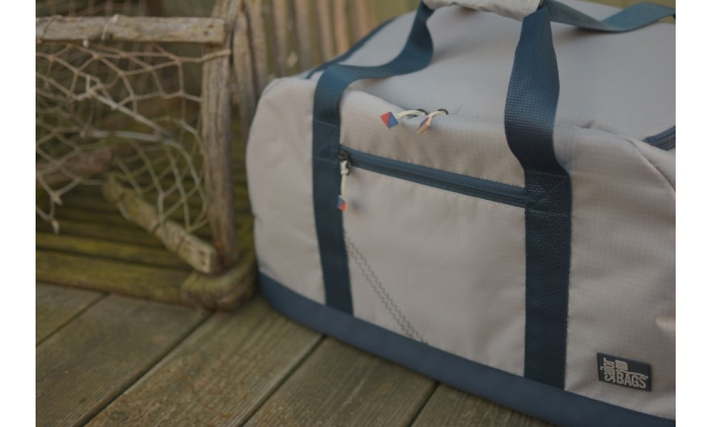 Silver Spinnaker Cruiser Duffel close up on deck