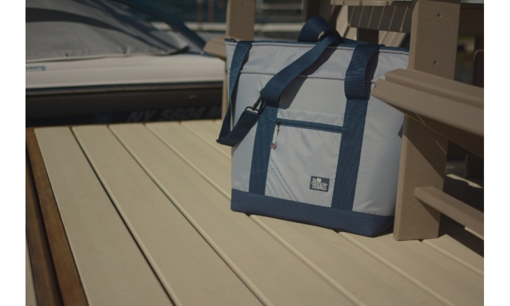 Silver Spinnaker Cooler Tote on deck