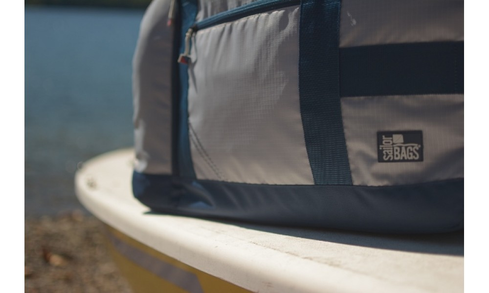 Silver Spinnaker Cruiser Duffel close up