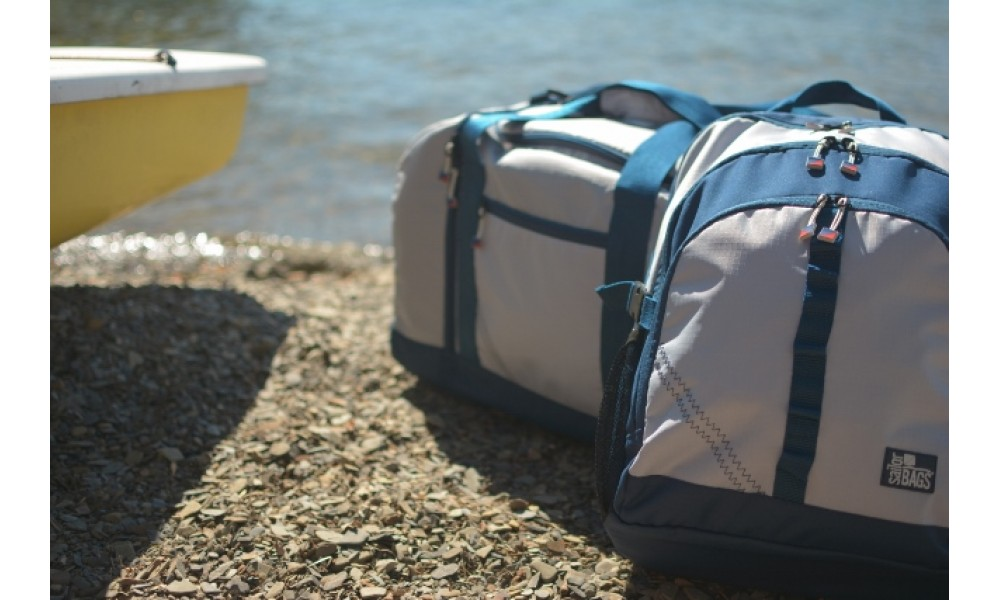 Silver Spinnaker Cruiser Duffel at beach