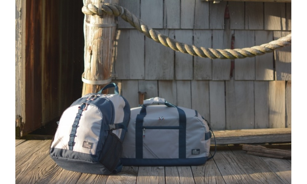 Silver Spinnaker Daypack with duffel