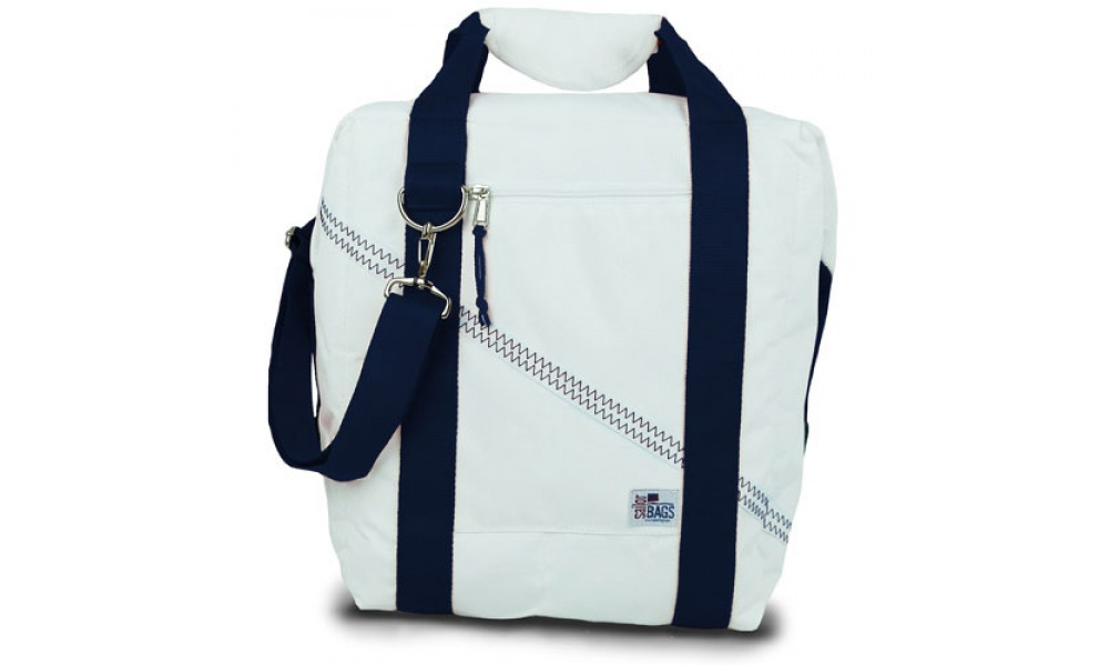 Newport Cooler Bag - 24 Pack with blue accents