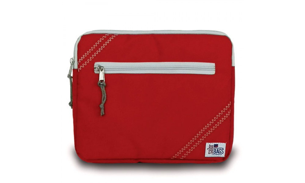 red tablet case sleeve sailcloth