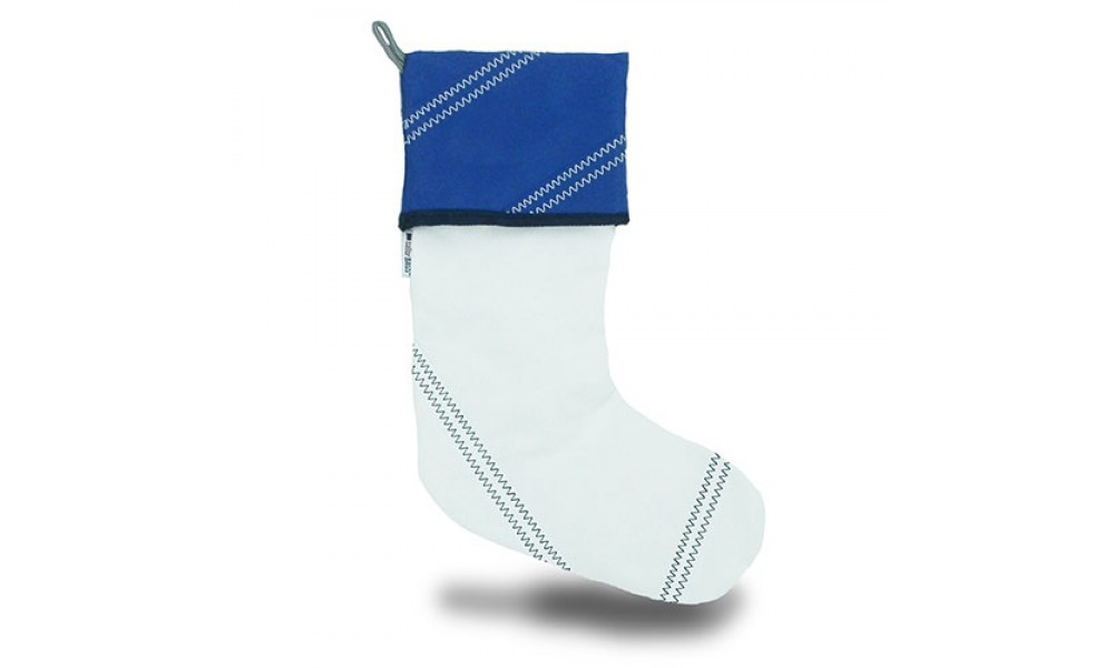 Our genuine sailcloth stocking gives a nod to summer, even on a snowy Christmas Eve.