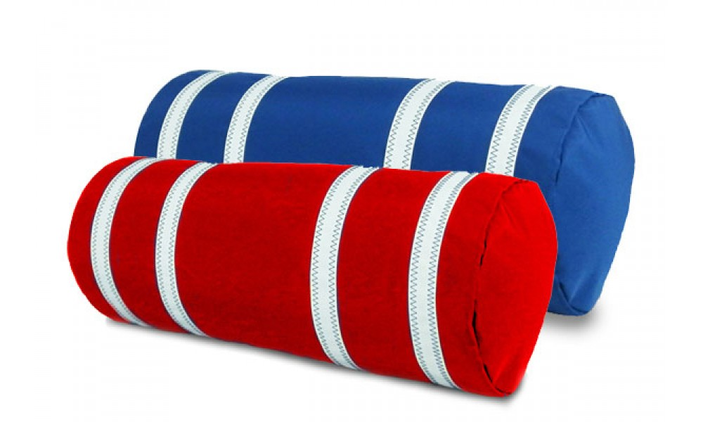 Nautical Stripe Bolster Cover red blue