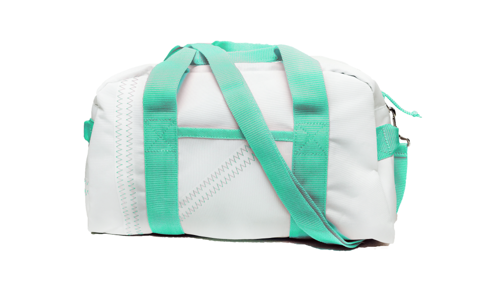 Cabana Square Duffel - Small in Aqua