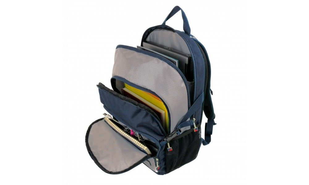 Silver Spinnaker Daypack open pockets top view