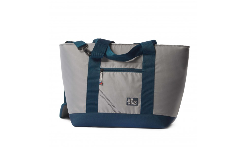BoatUS offer Silver Spinnaker Cooler Tote - PERSONALIZE FREE!