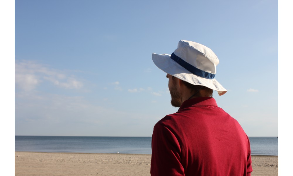Newport Sailing Hat worn at the beach