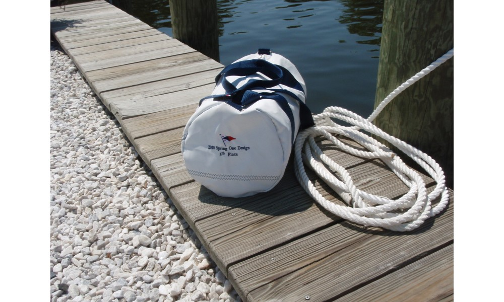 Newport Round Duffel on the dock