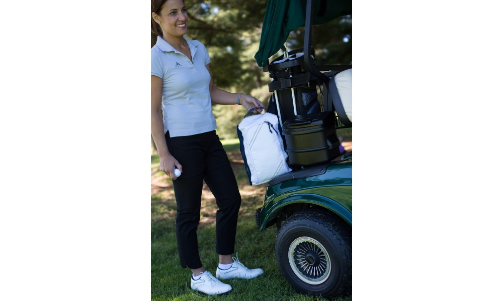 Newport Shoe Bag in golf cart