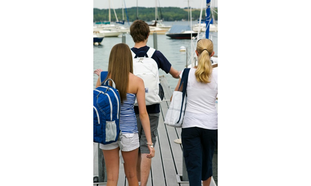 The Chesapeake Backpack is perfect for a day on the boat.