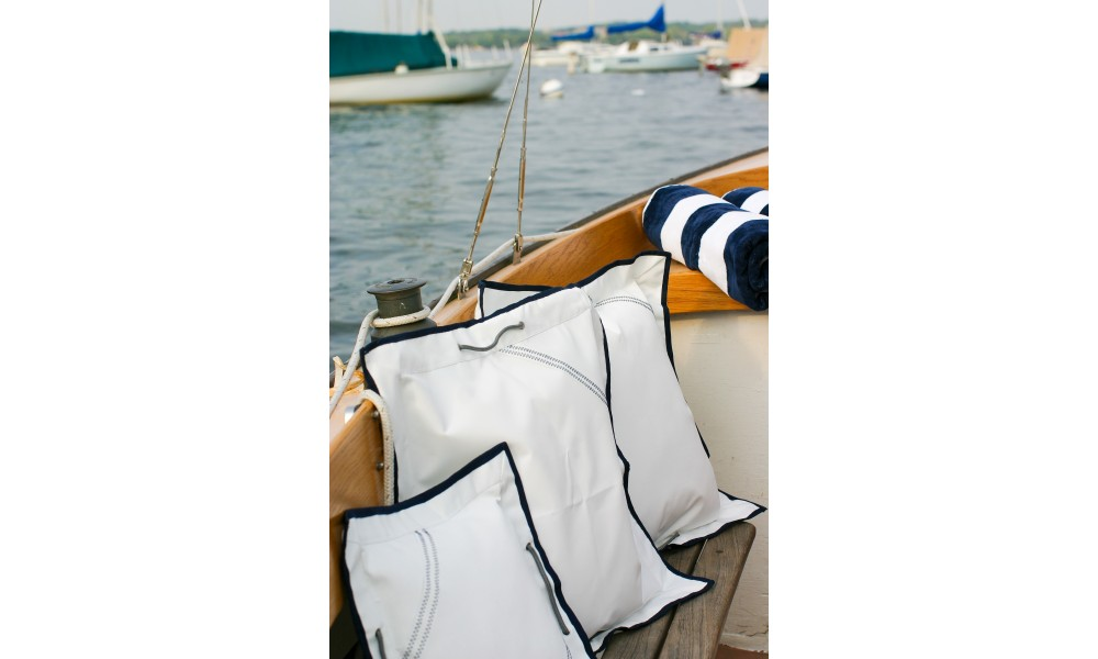 Newport Pillow Cover set on boat