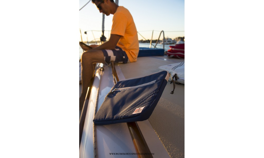 chesapeake ipad tablet sleeve on a boat nautical blue