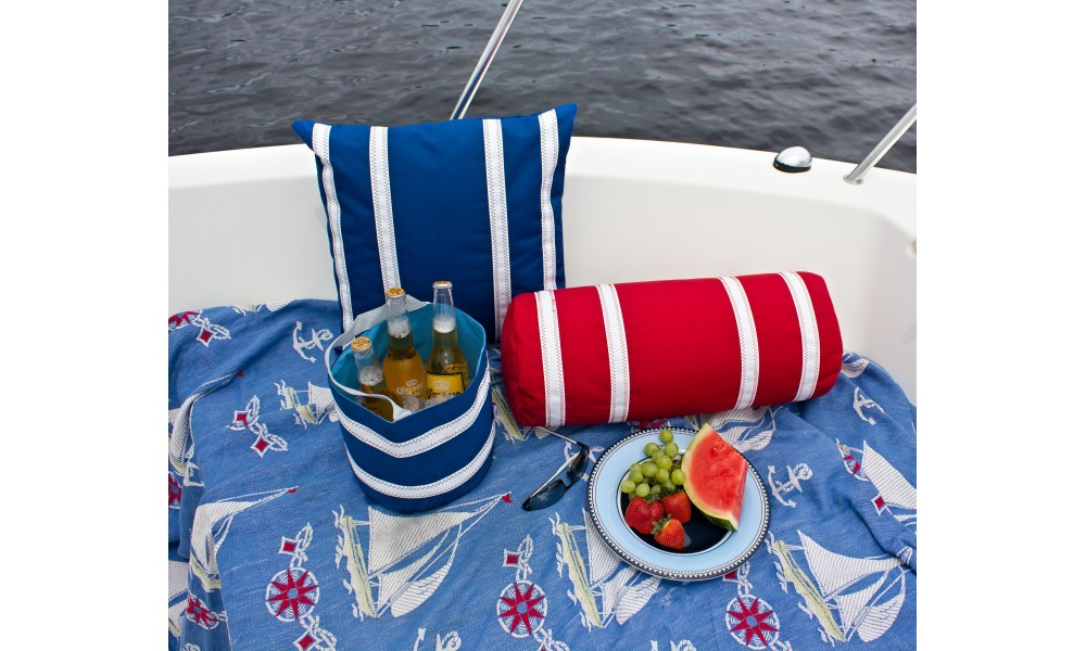 Nautical Stripe Bolster and Pillow Cover