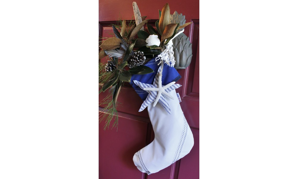 stuffed white sailcloth stocking