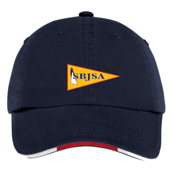 SBJSA Sandwich Bill Cap with Striped Closure